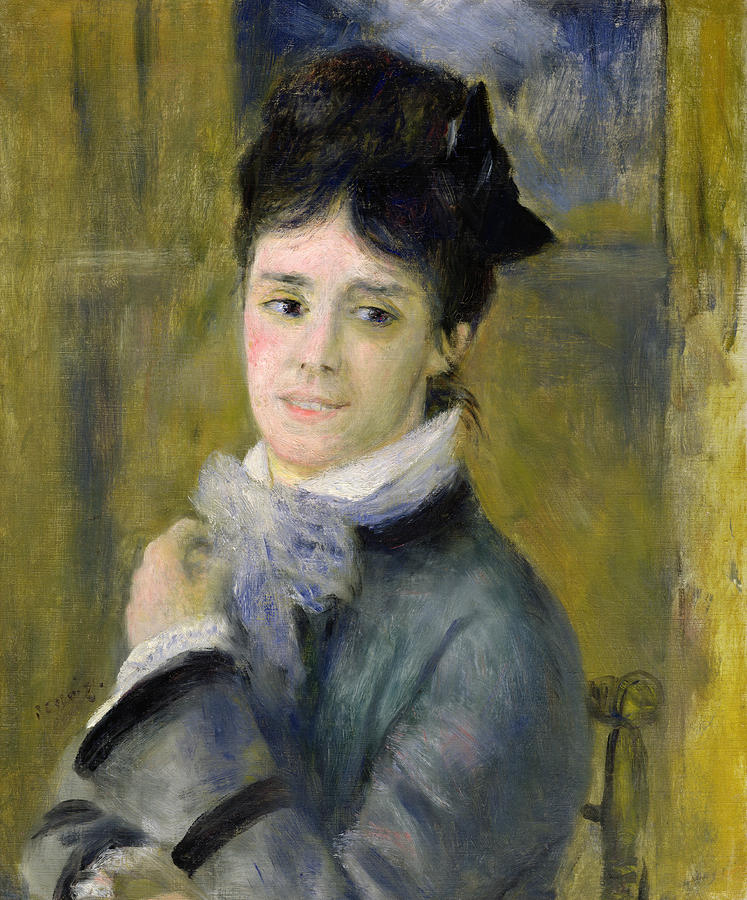 Portrait Of Madame Claude Monet Painting