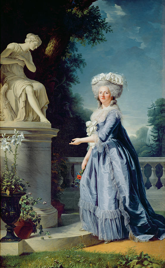 Portrait Of Marie-louise Victoire De France Painting