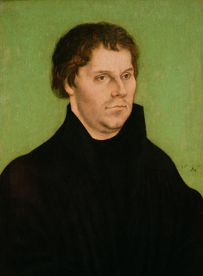 Portrait Of Martin Luther Painting  - Portrait Of Martin Luther Fine Art Print