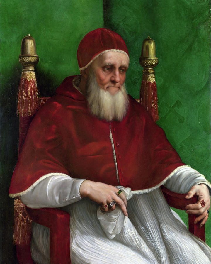 Portrait Of Pope Julius II - 1511 Painting  - Portrait Of Pope Julius II - 1511 Fine Art Print