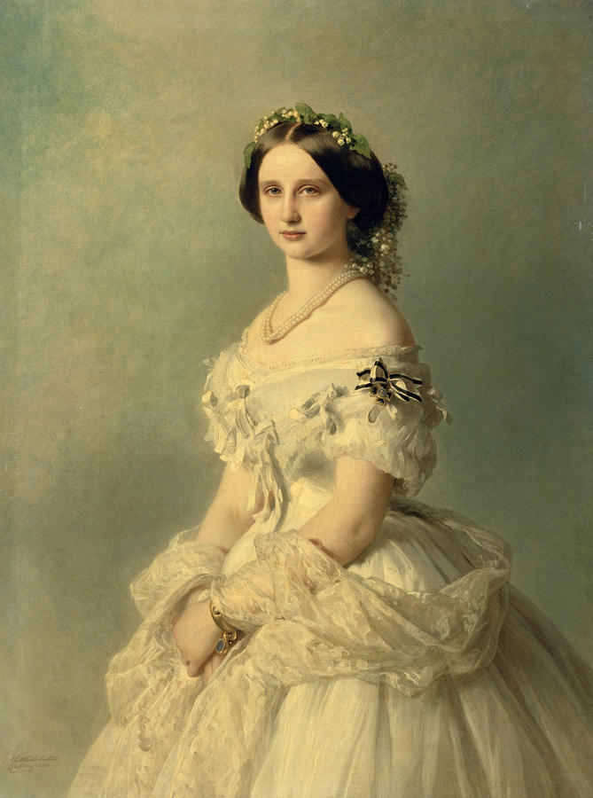Portrait Of Princess Of Baden Painting