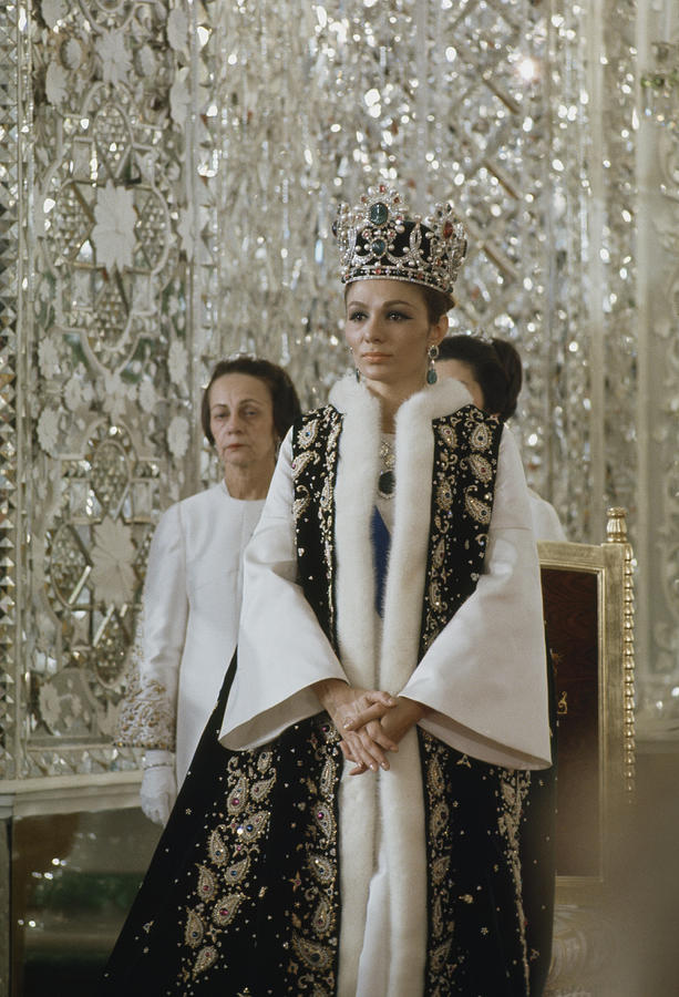 Portrait Of Queen Farah Pahlavi Dressed Photograph