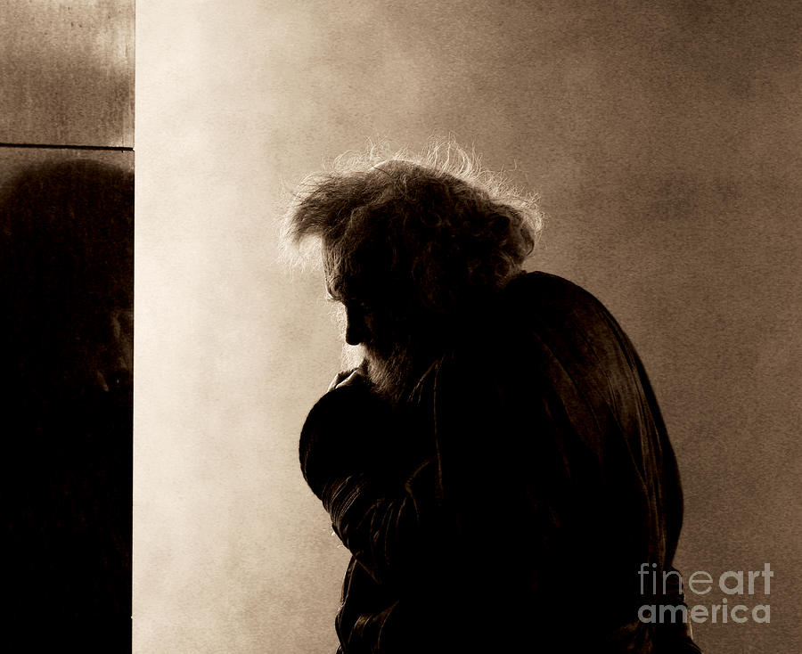 Portrait Of The Homeless Photograph  - Portrait Of The Homeless Fine Art Print