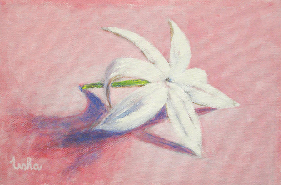 Portrait Of The Jasmine Flower Painting