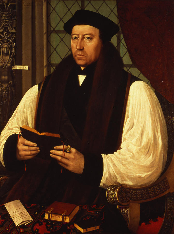 Portrait Of Thomas Cranmer Painting  - Portrait Of Thomas Cranmer Fine Art Print