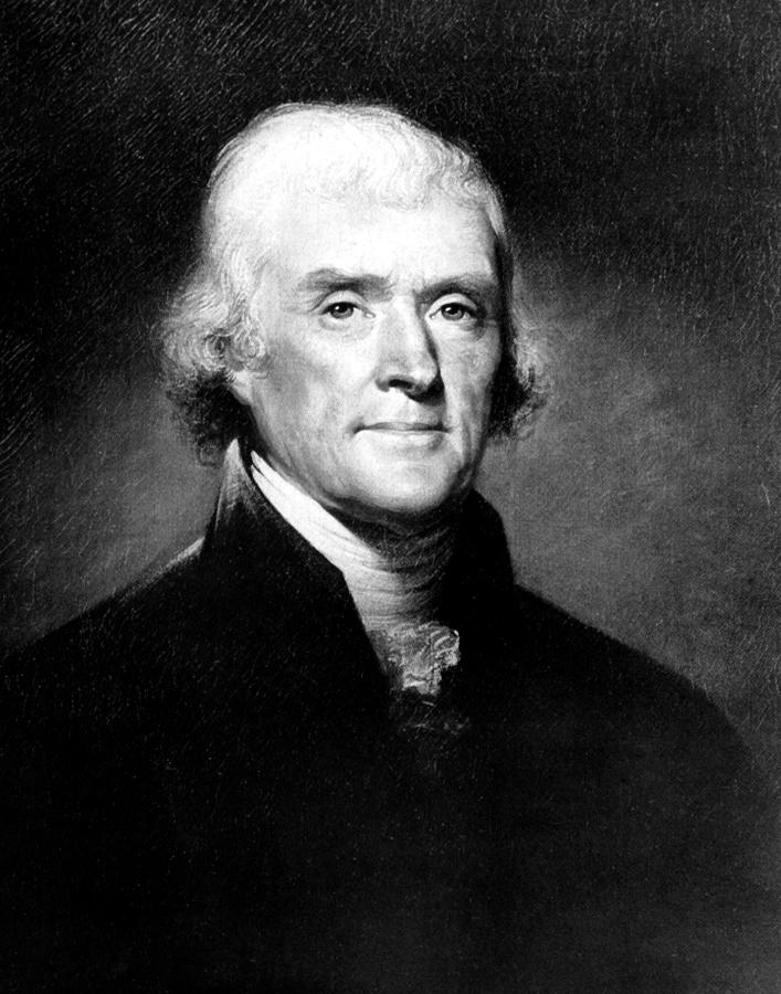 Portrait Of Thomas Jefferson Photograph