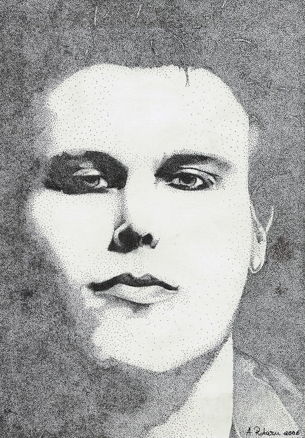 Portrait Of Ville Valo Drawing