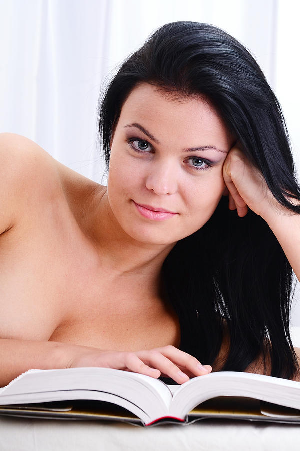 portrait of young nude woman reading a book in bed t monticello The Gay Teens