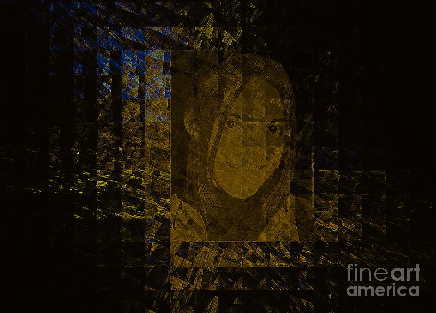 Portrait Reflection From Fresnel Prisms Mixed Media