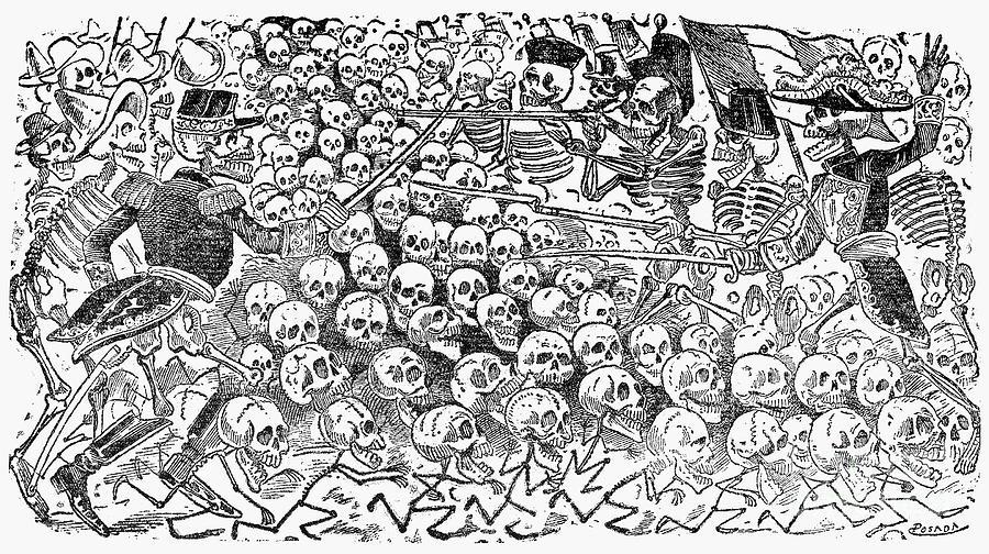 Posada: Skeletons, 1911 Photograph