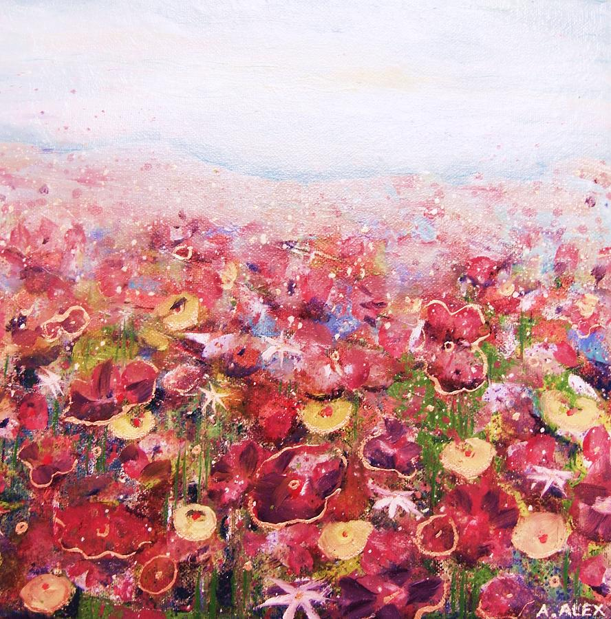 Flowers Painting - Posies by Andria Alex