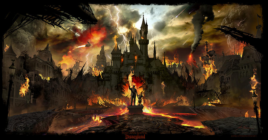 Post Apocalyptic Disneyland Digital Art  - Post Apocalyptic Disneyland Fine Art Print