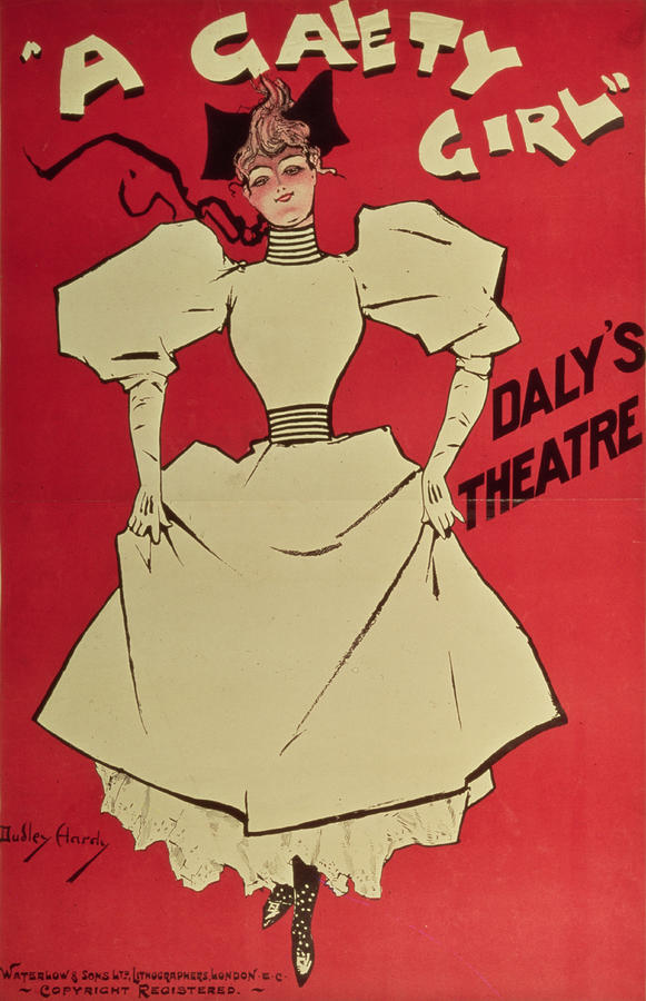 Poster Advertising A Gaiety Girl At The Dalys Theatre In Great Britain Painting