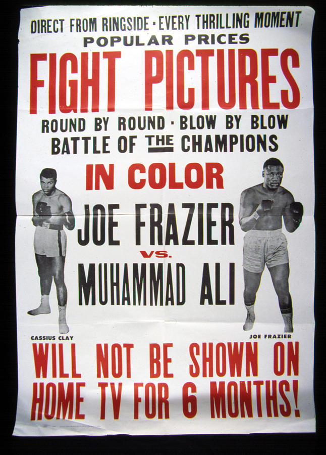 Poster For The First Joe Frazier Vs Photograph