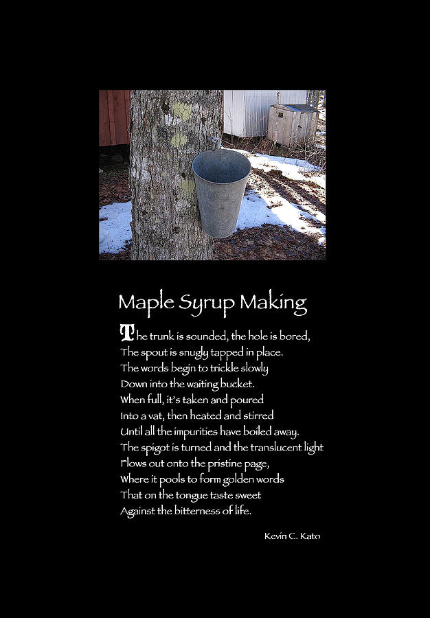 Poster Poem - Maple Syrup Making Photograph  - Poster Poem - Maple Syrup Making Fine Art Print