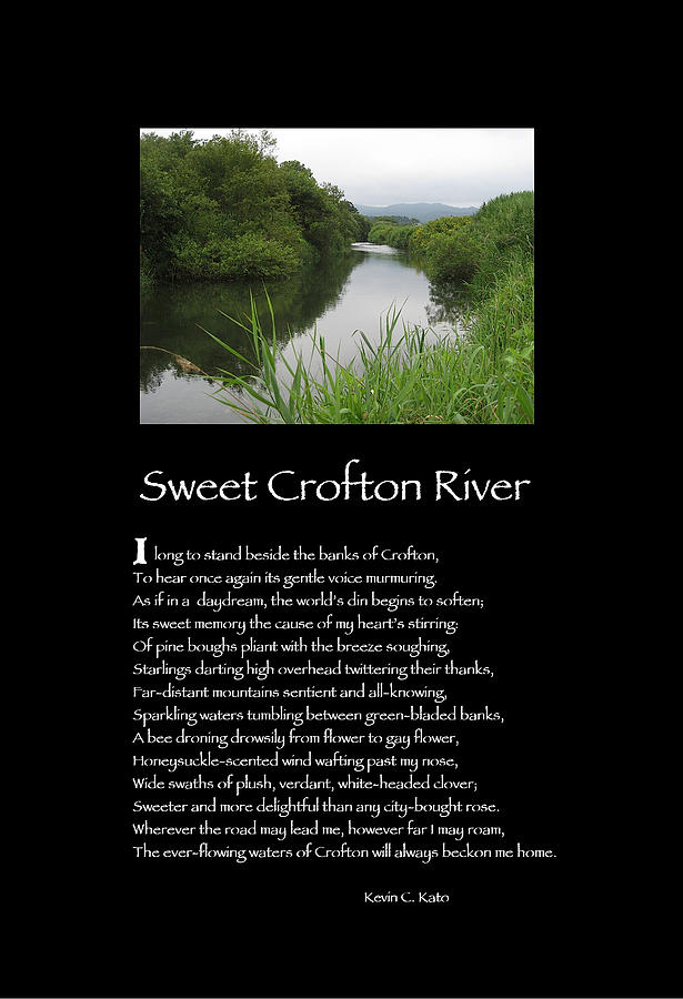 Poster Poem - Sweet Crofton River Photograph  - Poster Poem - Sweet Crofton River Fine Art Print