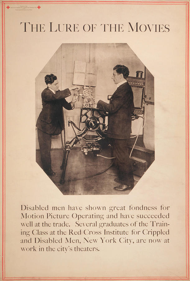 Poster Showing Disabled Man Working Photograph