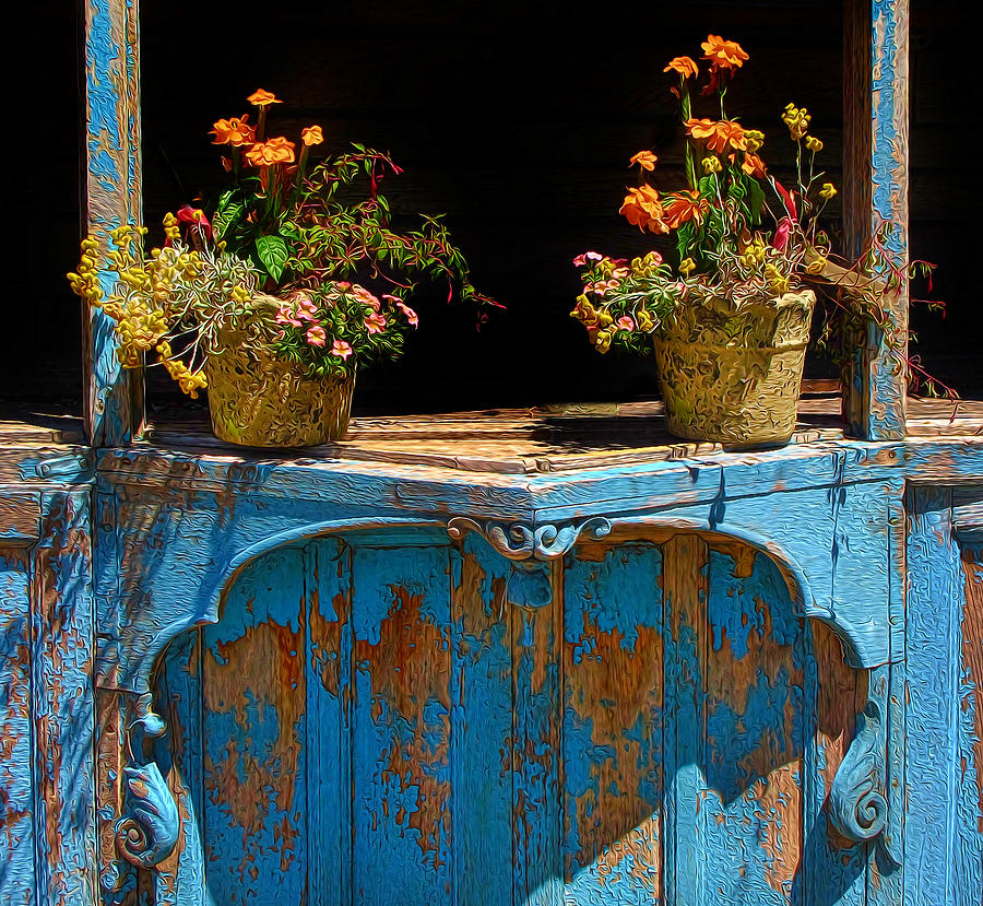 Pots Over Peeling Paint Photograph By Dave Mills