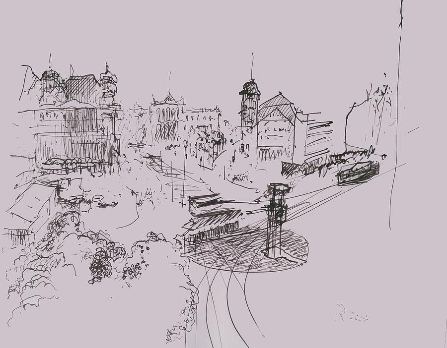 Potsdamer Platz Berlin In 1930 Drawing