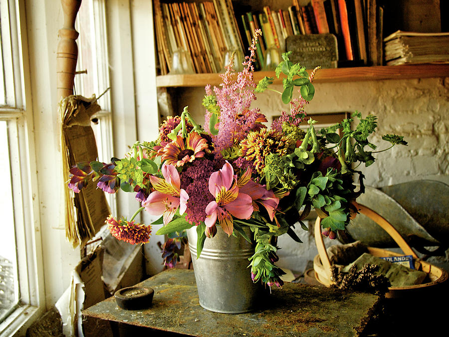 Potting Shed Flowers Photograph