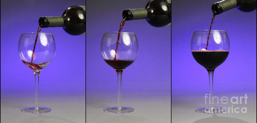 Pouring Wine Photograph  - Pouring Wine Fine Art Print