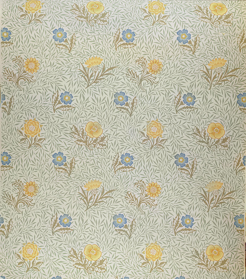 Arts And Crafts Movement; Floral; Pattern Tapestry - Textile - Powdered by Wiliam Morris