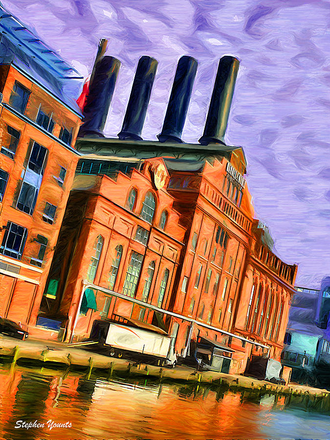Baltimore Digital Art - Power Plant by Stephen Younts