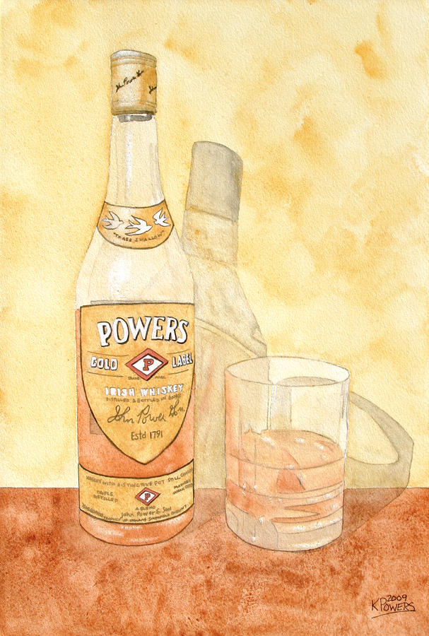 Powers Irish Whiskey Painting  - Powers Irish Whiskey Fine Art Print