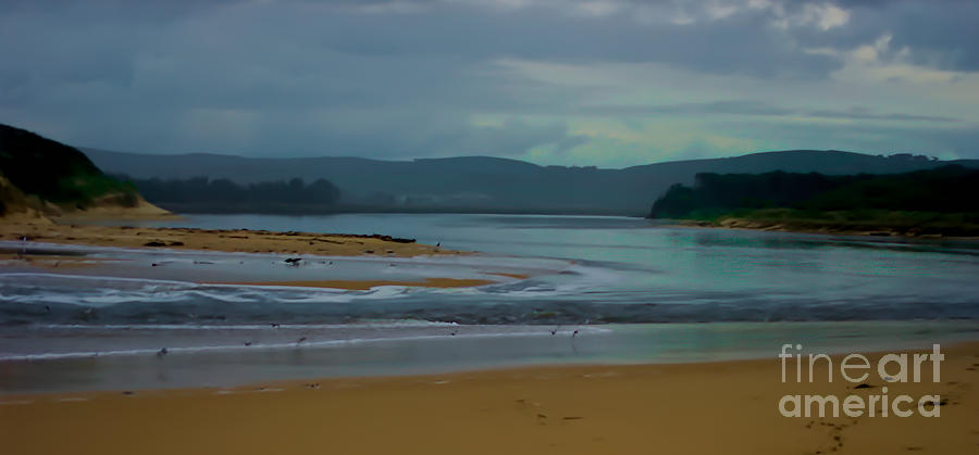 Powlett River Inlet On A Stormy Morning Digital Art