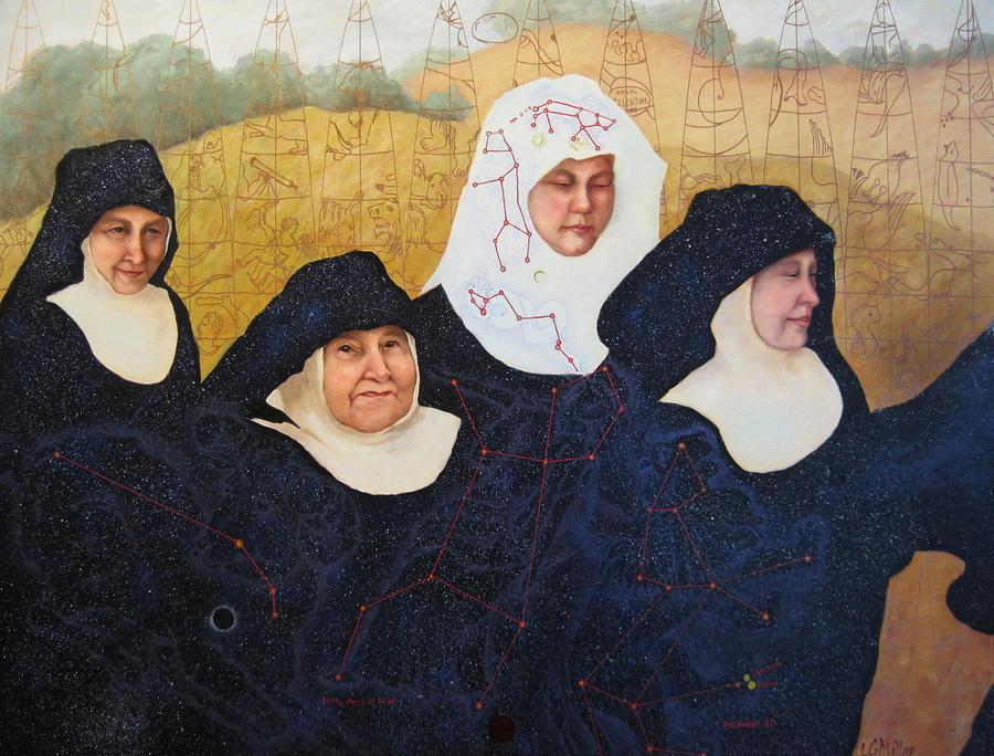 Figures Painting - Praenuntius by Leda Miller