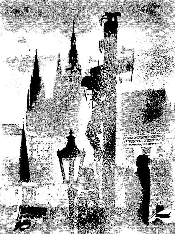 Prague - Graphics Photograph - Prague - Graphics by Petr Nikl