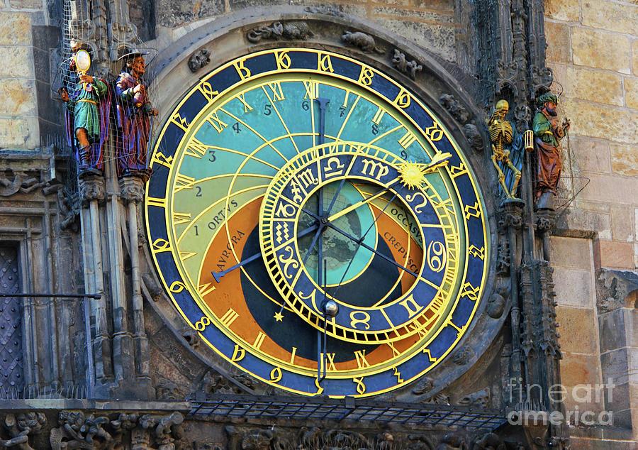 Prague Astronomical Clock Photograph