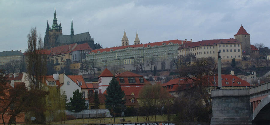 Prague Castle In Prague Czech Republic Digital Art  - Prague Castle In Prague Czech Republic Fine Art Print