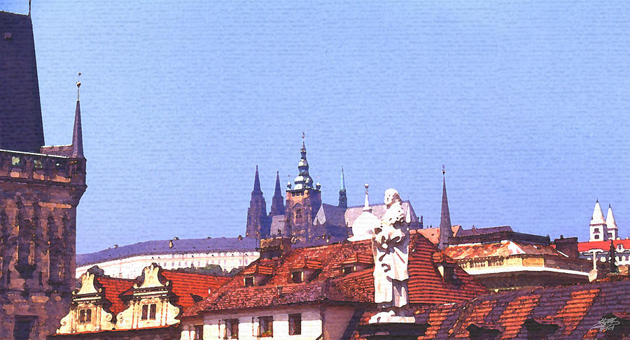 Prague Castle Digital Art  - Prague Castle Fine Art Print