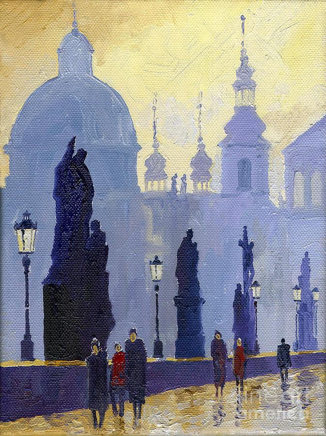 Prague Charles Bridge 03 Painting