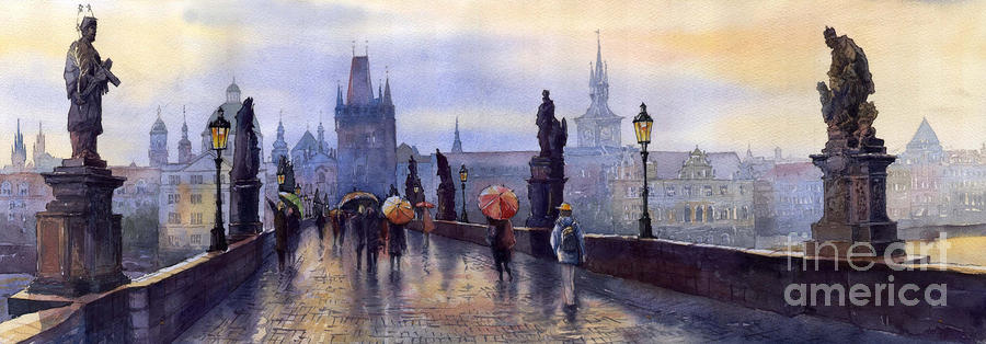 Prague Charles Bridge Painting  - Prague Charles Bridge Fine Art Print