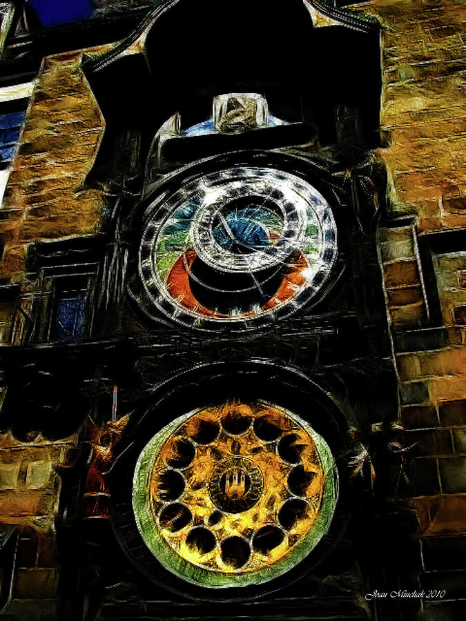 Prague Clock Digital Art