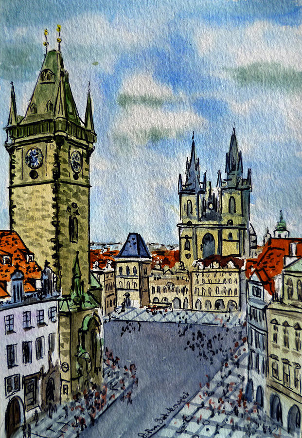 Prague Czech Republic Painting  - Prague Czech Republic Fine Art Print