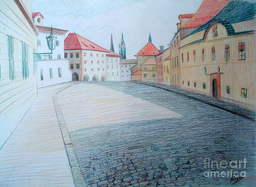 Prague Drawing  - Prague Fine Art Print