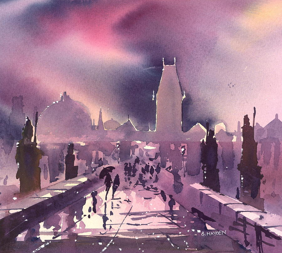 Prague Night Painting  - Prague Night Fine Art Print