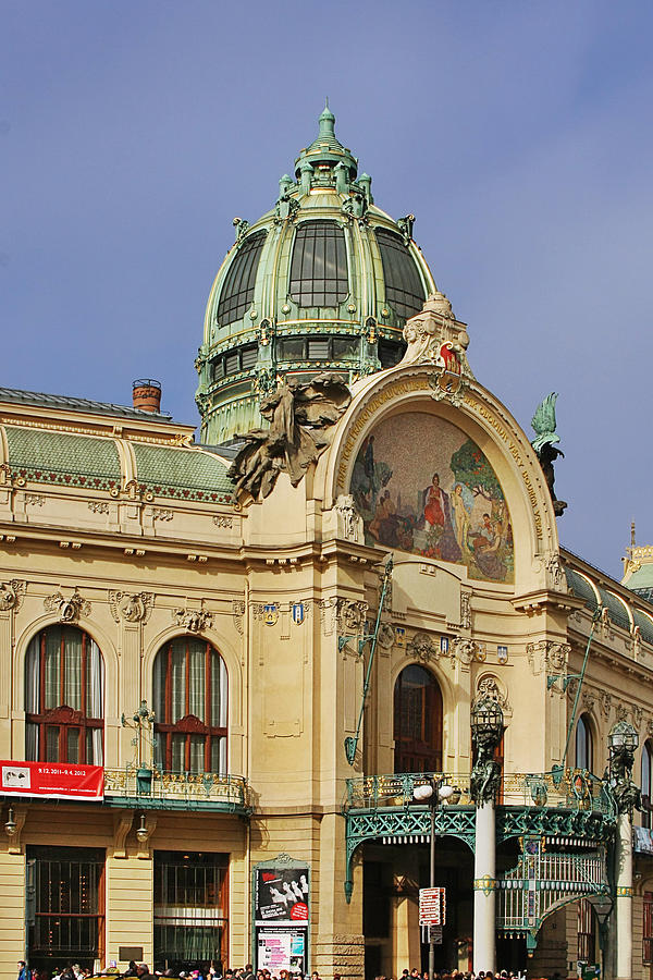 Prague Obecni Dum - Municipal House Photograph  - Prague Obecni Dum - Municipal House Fine Art Print