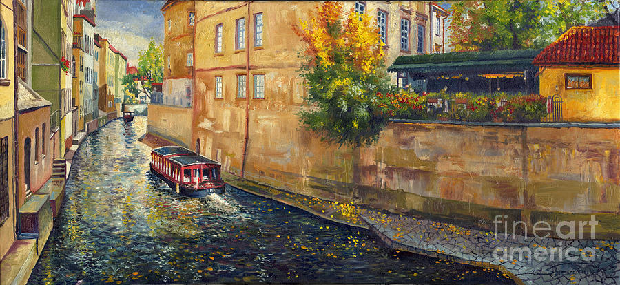 Prague Venice Chertovka 2 Painting