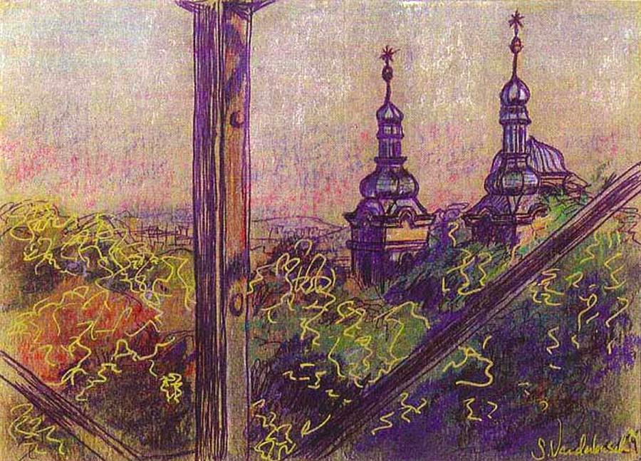 Prague View Mixed Media