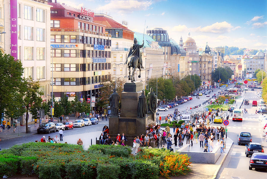 Prague Wenceslas Square Photograph