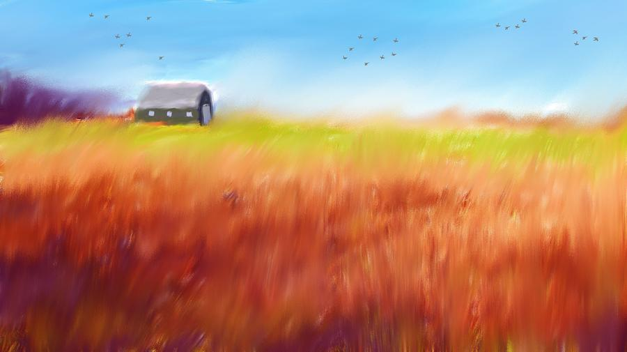 Prairie Autumn Painting