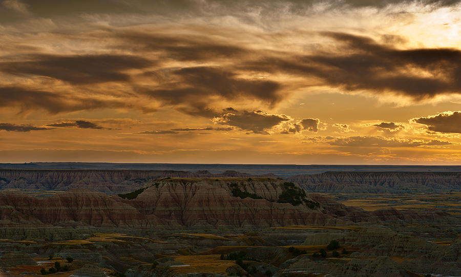 Prairie Wind Overlook Badlands South Dakota Photograph  - Prairie Wind Overlook Badlands South Dakota Fine Art Print