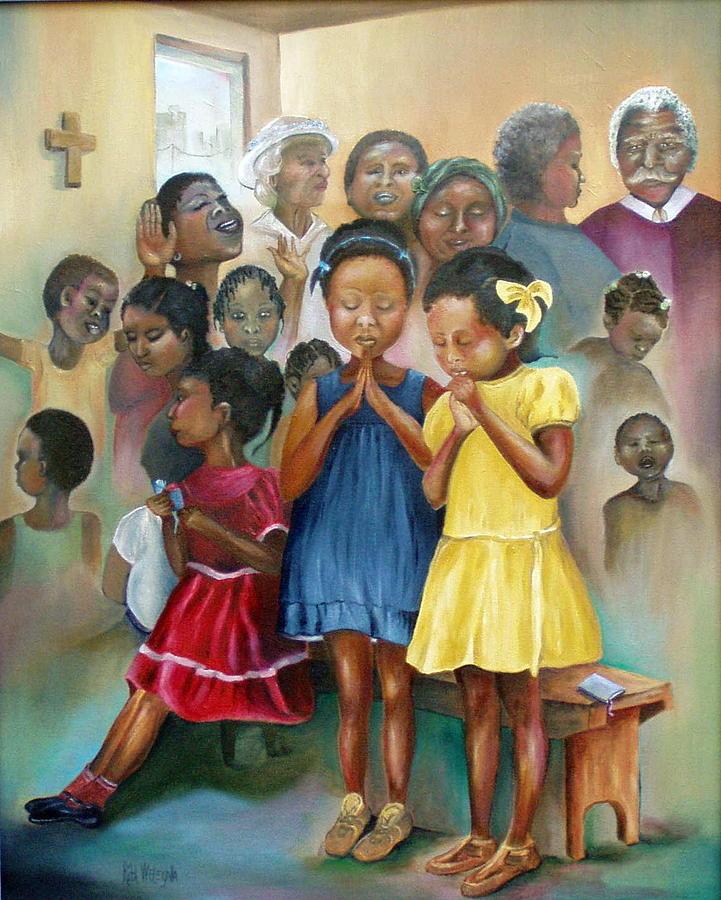 Praise And Prayer Painting By Rita Welegala