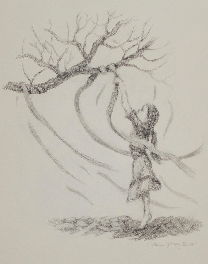Prayer Ribbons Drawing