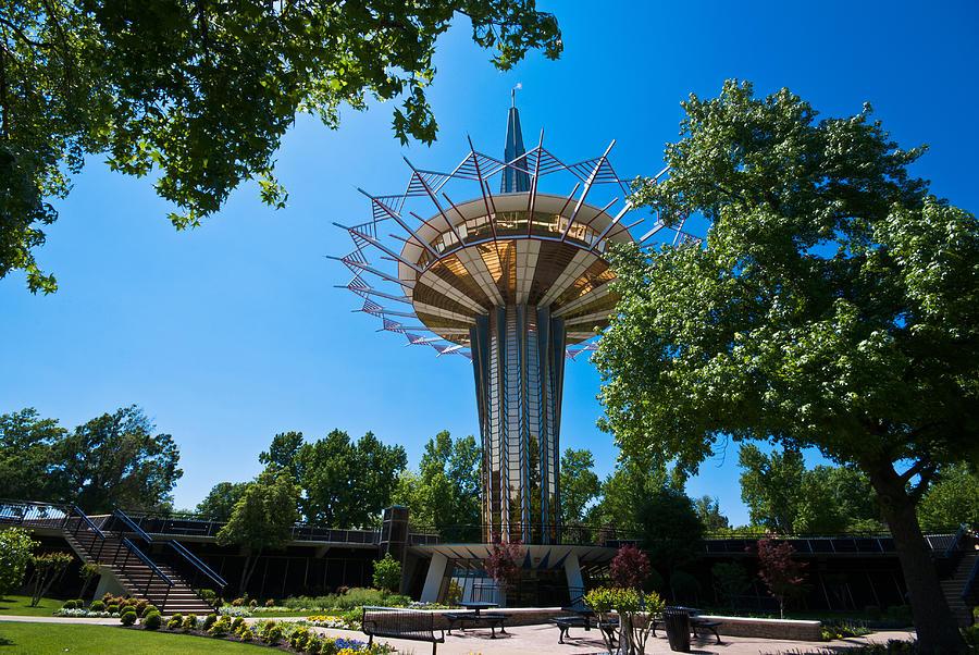 Prayer Tower Garden Photograph