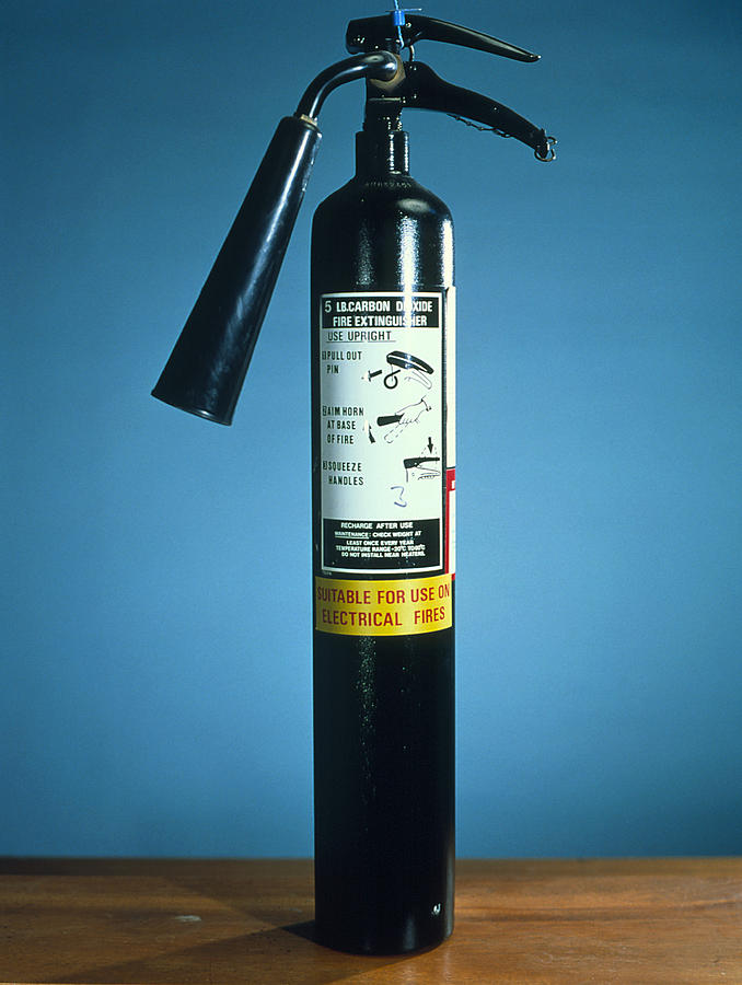 Pre-1997 Uk Co2 Fire Extinguisher Photograph  - Pre-1997 Uk Co2 Fire Extinguisher Fine Art Print